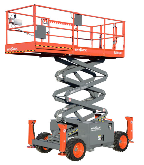rough terrain scissor lift hire